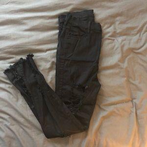 Fashion nova ripped black jeans